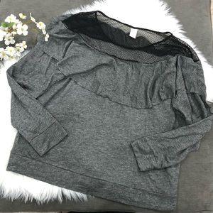 Lane Bryant LIVI Active Sweatshirt Mesh Top 26/28